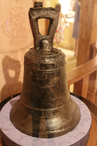 One of the two bells from Blackbeard's flagship