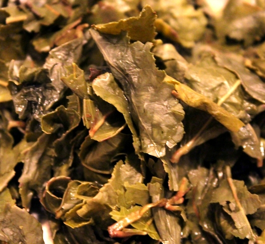 Tieguanyin leaves after four steepings